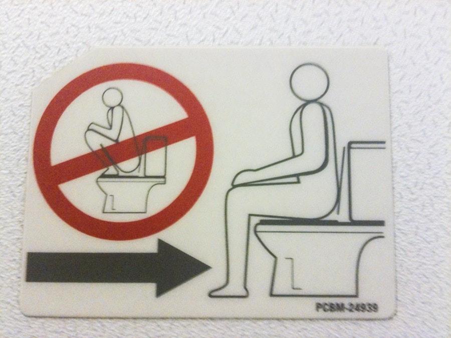 Asian toilet instructions