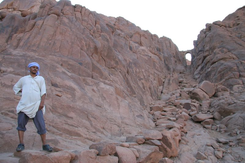 Guide on Mt. Sinai trail...not an easy hike!