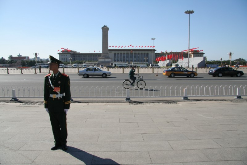 Guard in front of Tiananmen Square