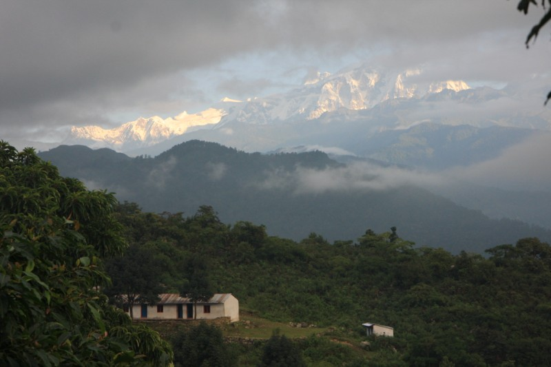 The Primary School surrounded by mountains