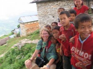 Me at the village 'stoop' with my constant crowd of onlookers.  This is what it's like to be Angelina Jolie - kid's everwhere! PS - yes - I know the picture is blurry...but I had to try to teach someone to use my camera!