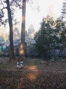 Running through Angkor Thom