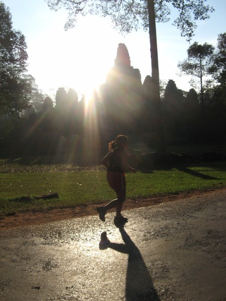 Running through the Angkor Temples
