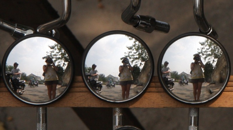 Motorbike Mirrors...what are they good for?
