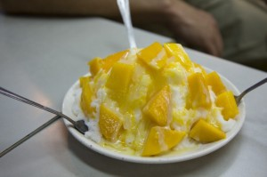 Mango Shaved Ice - snow on a plate