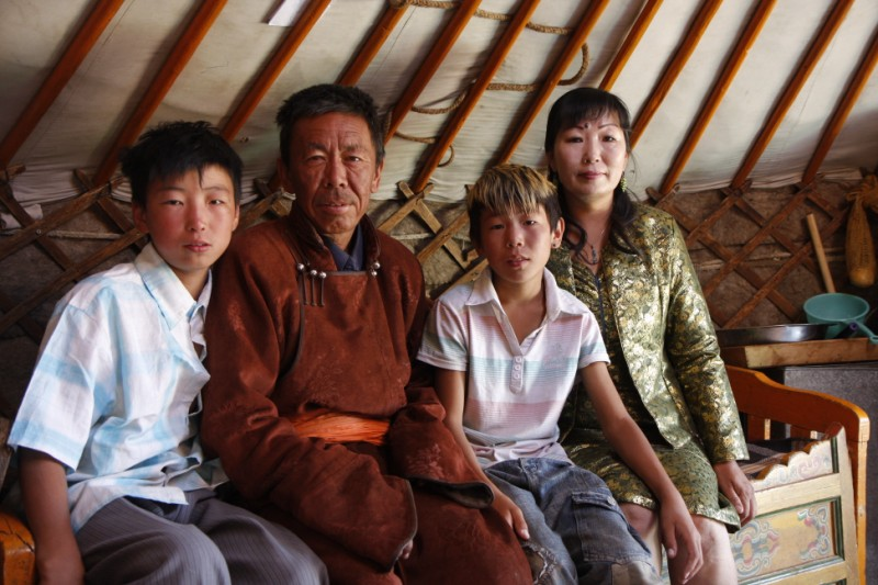 mongolia nomads family life