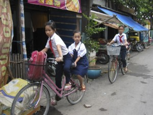 Kids Riding to School