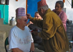 Dad receiving a Tika from the Elders