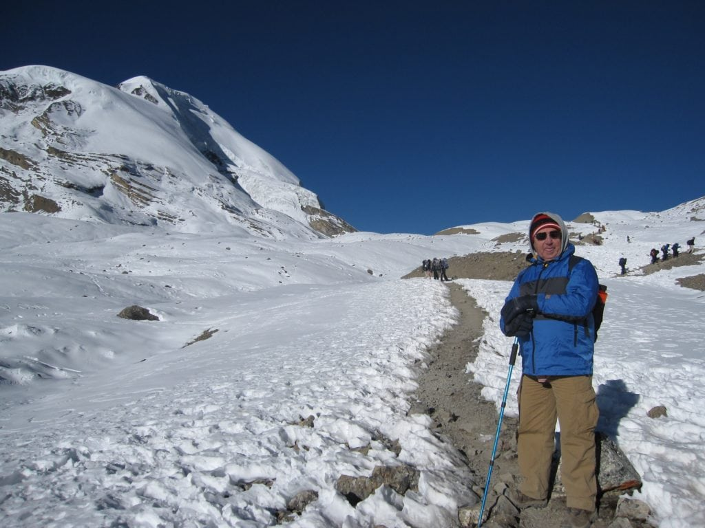 Dad going to Thorung La Pass