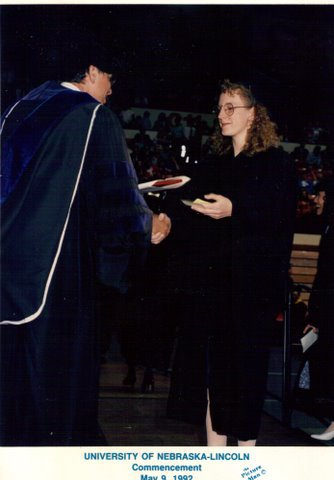 graduating from college