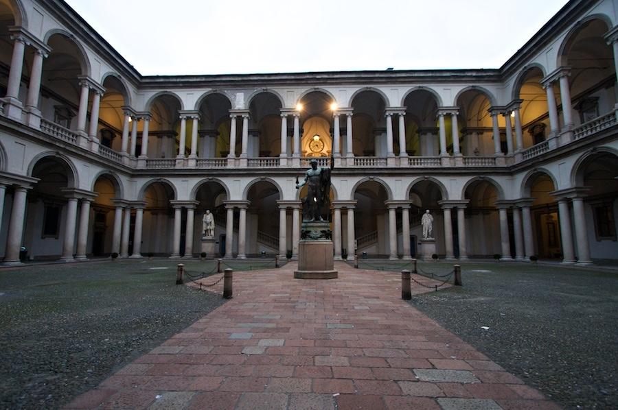 Courtyard of Pinacoteca di Brera  - Milan
