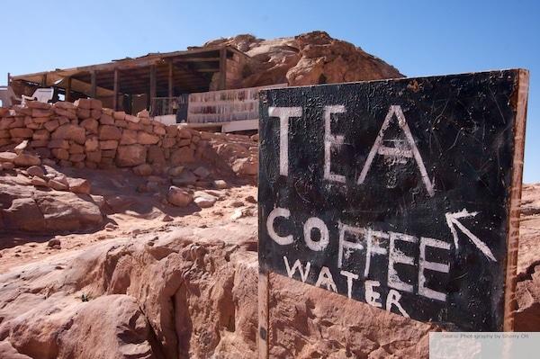 coffee tea water sign