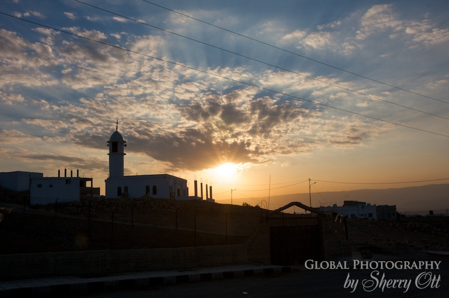 Mosque Sunset Jordan