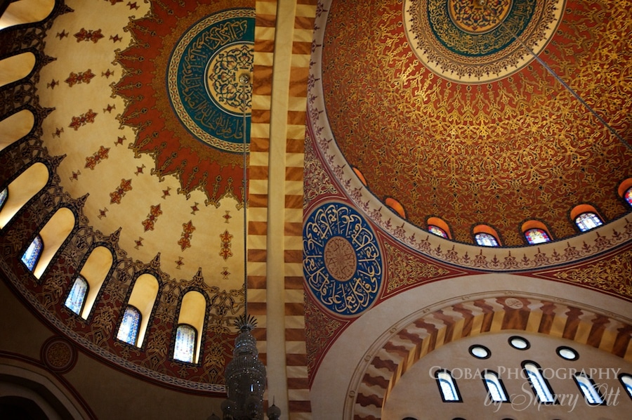 Mohammad al-Amin Mosque ceiling