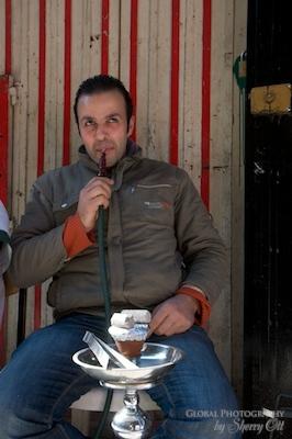 smoking shisha in lebanon