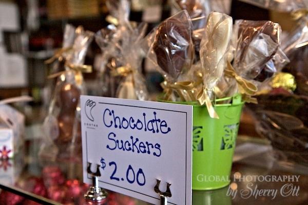chocolate suckers