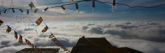 sri pada above clouds