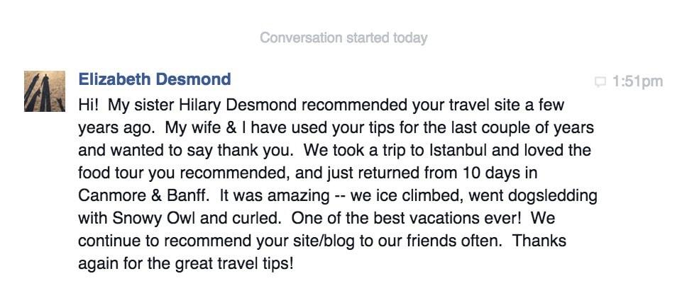 Elizabeth Desmond Messages