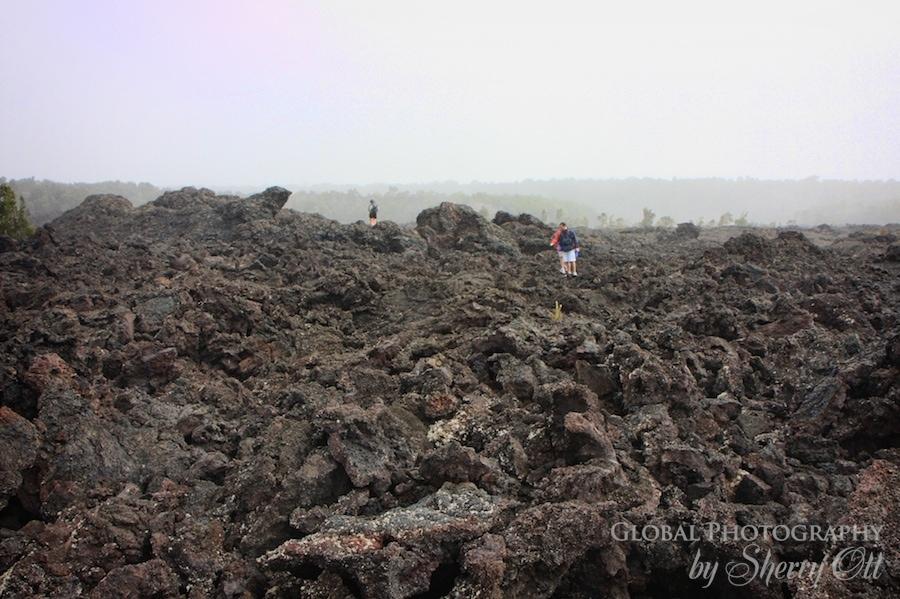 walk on lava volcanoes national park