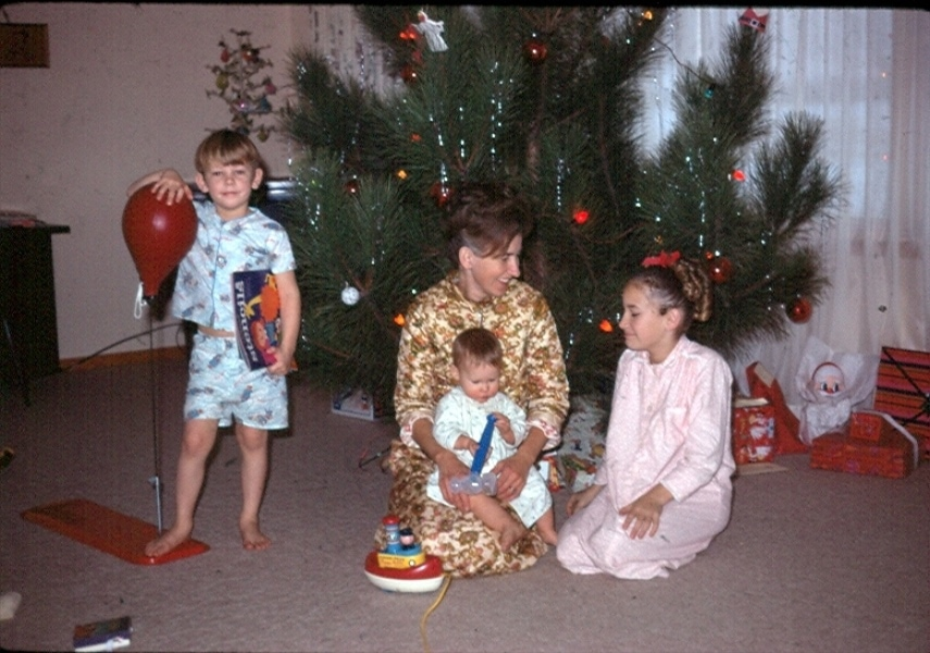 me as a baby with my brother and sister