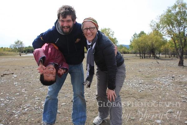 visiting mongolian kids