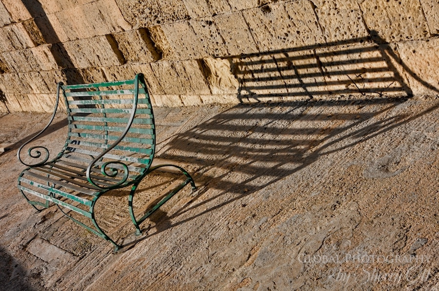 bench shadow