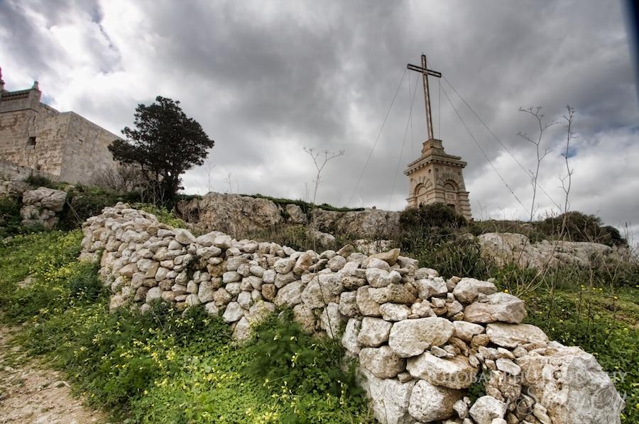 cross and wall