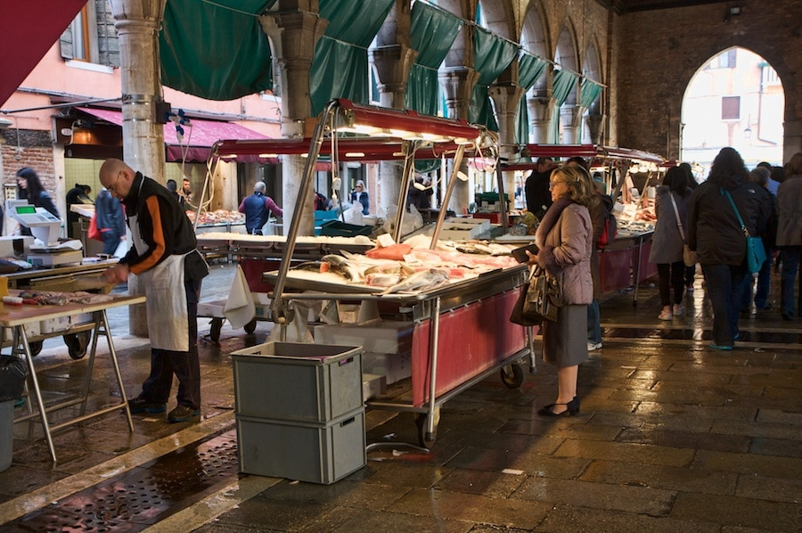 Go Local and Visit the Rialto Market in Venice