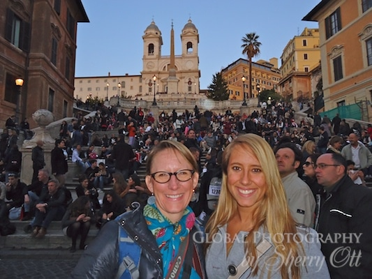 crowded spanish steps rome