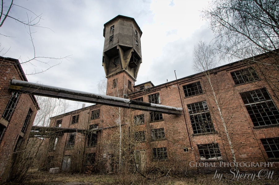 The outside of the paper mill