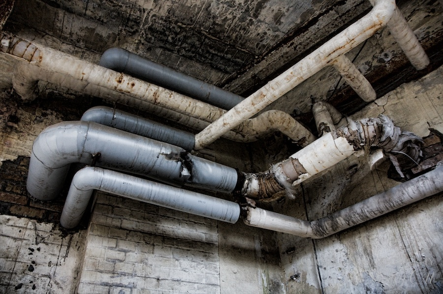 pipes in the paper mill