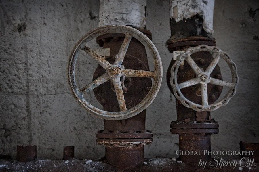 wheels valves abandoned factory berlin