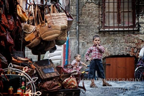A boy in the Beyoglu neighborhood