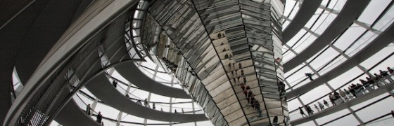 The swirling architecture of the Reichstag