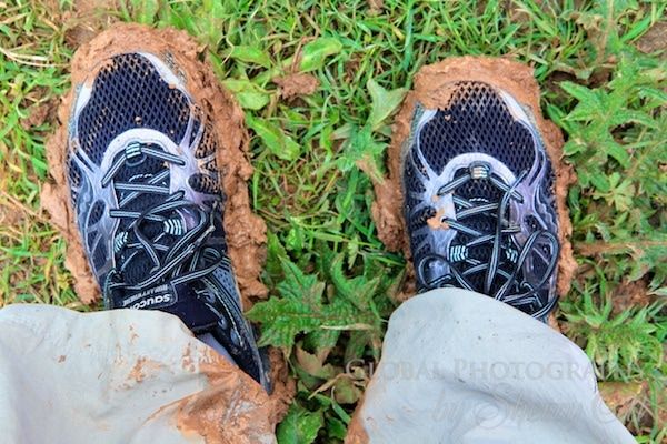 My my muddy trail shoes