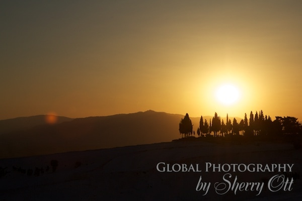 sunset picnic in Pamukkale