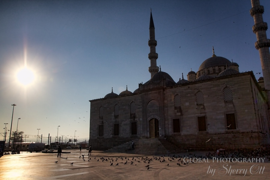 New Mosque in Istanbul at sunrise