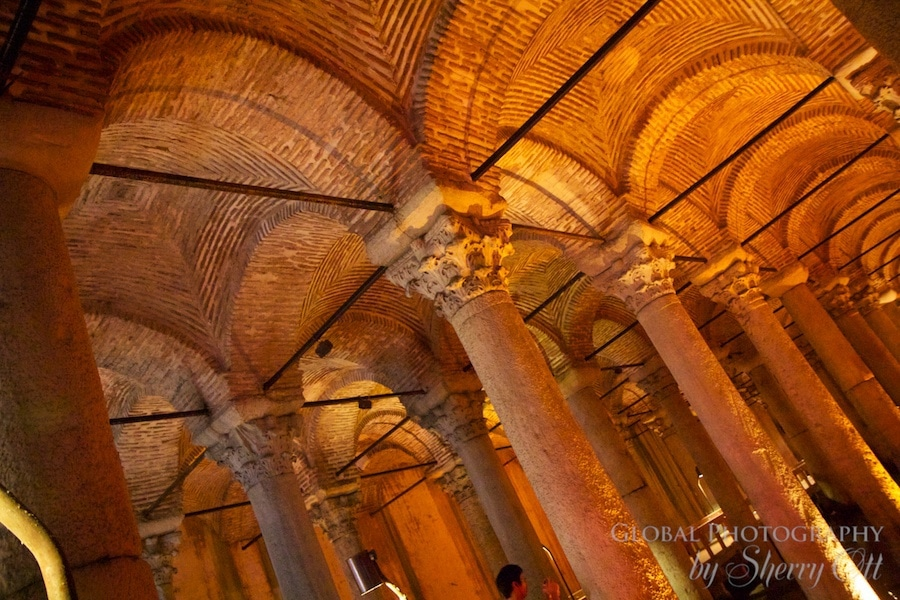 columns and arches of the cistern