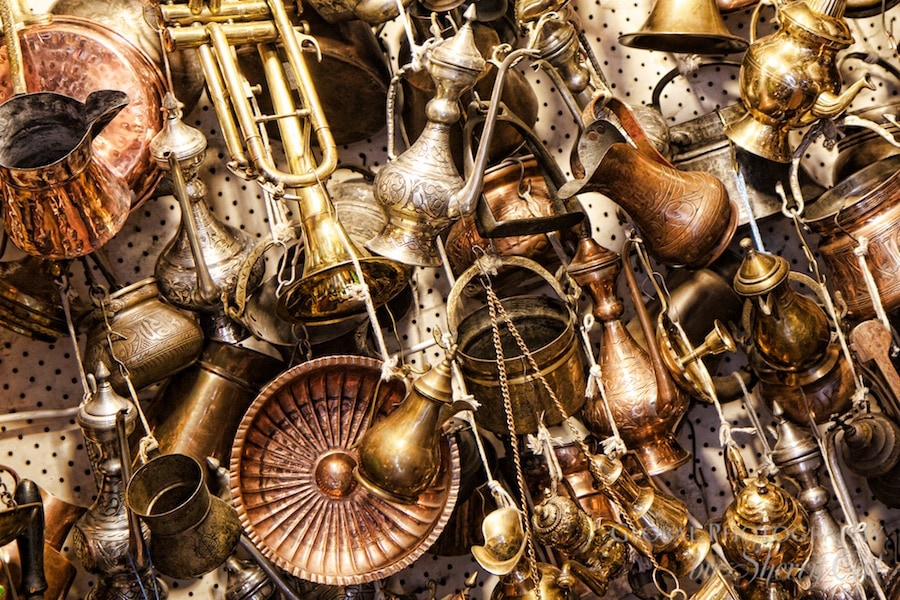 Metal antiques in the grand bazaar