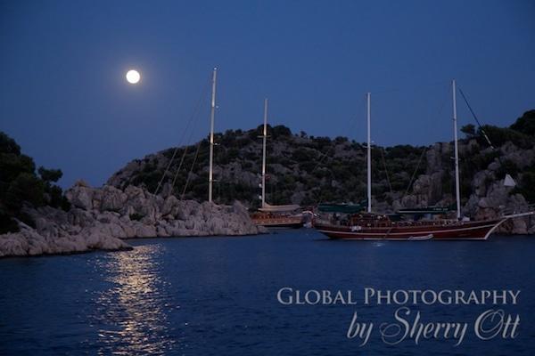 Sleeping under a full moon