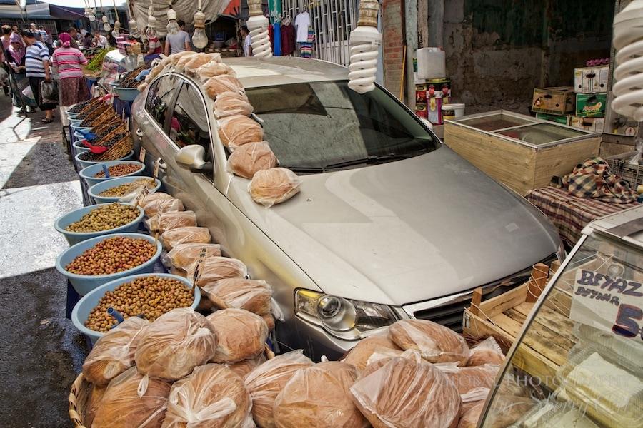 a car turned into a showroom