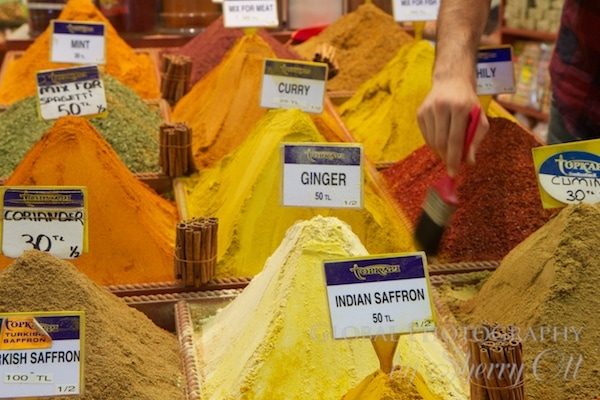 hills of spices in the spice market