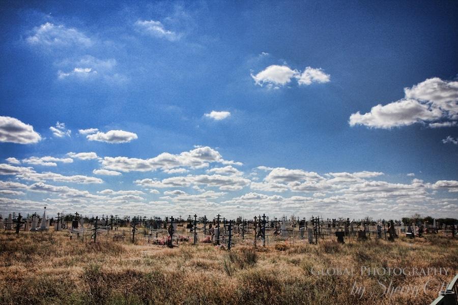 Cemetery in Russia