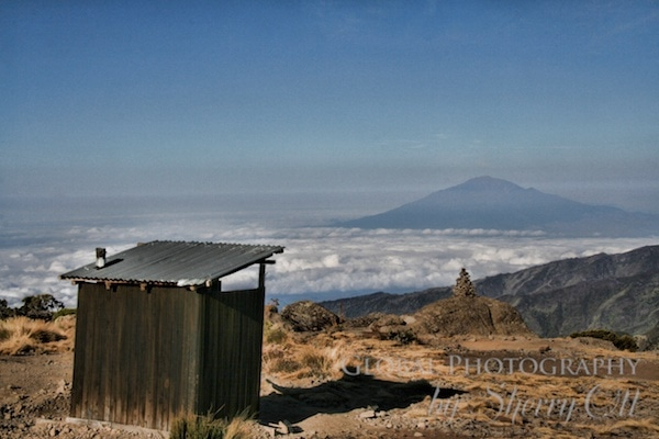 toilet above the clouds on Kilimanjaro
