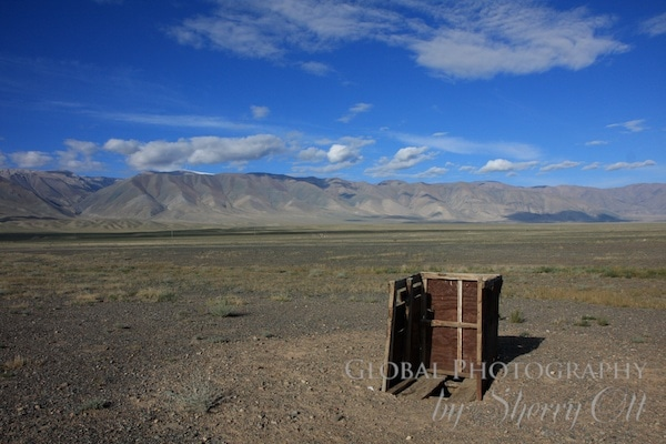 toilet with a view in Western Mongolia