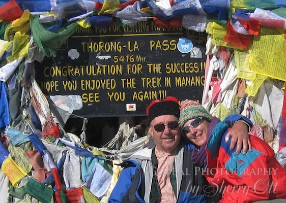 Dad and I at Thorong La