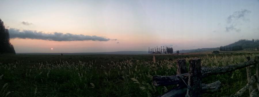 sunset at Ko'ele Lodge