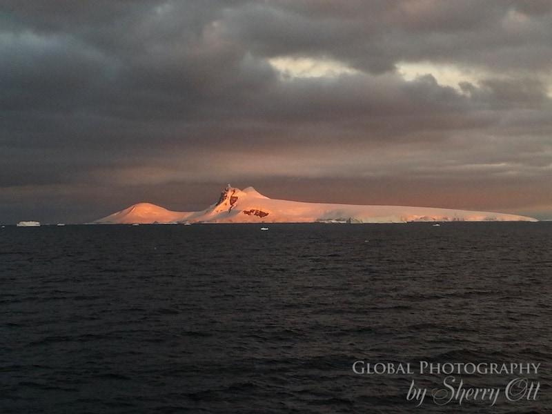 Antarctica sunset picture
