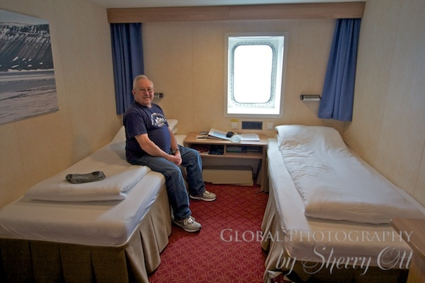 Our cabin on the cruise to Antarctica