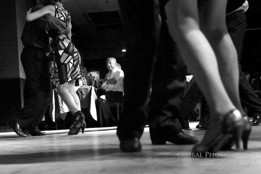 Viewing the dance floor